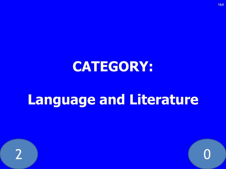 CATEGORY: