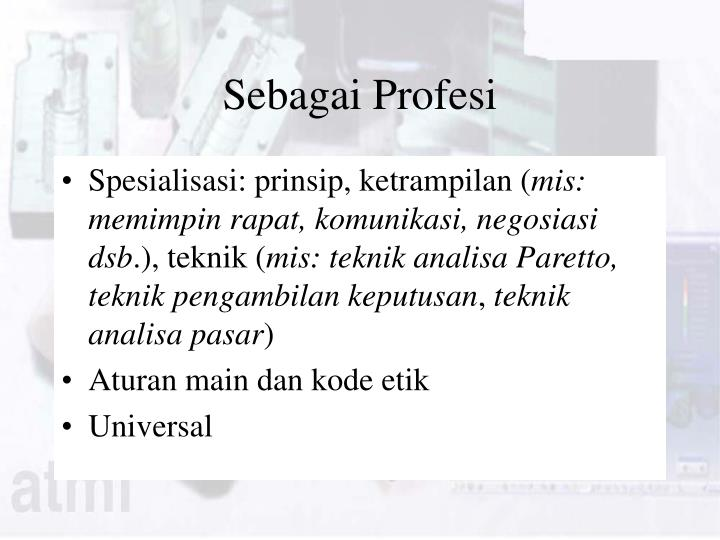 Sebagai Profesi