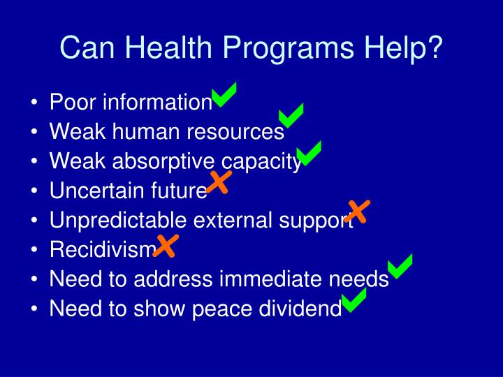 Can Health Programs Help?