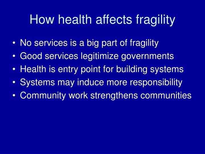 How health affects fragility
