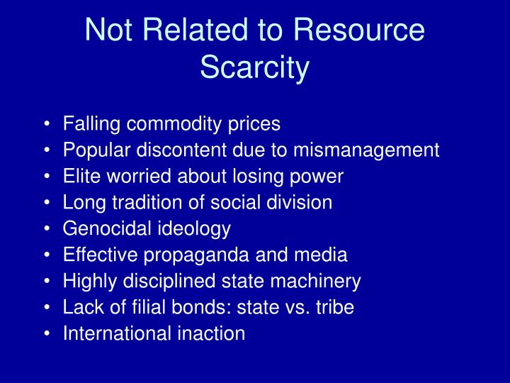 Not Related to Resource Scarcity