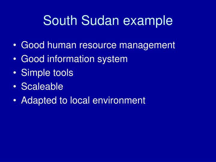 South Sudan example