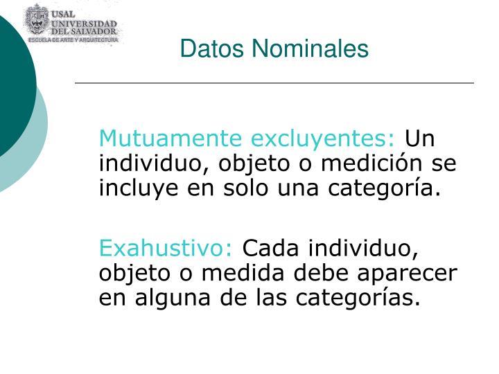 Datos Nominales