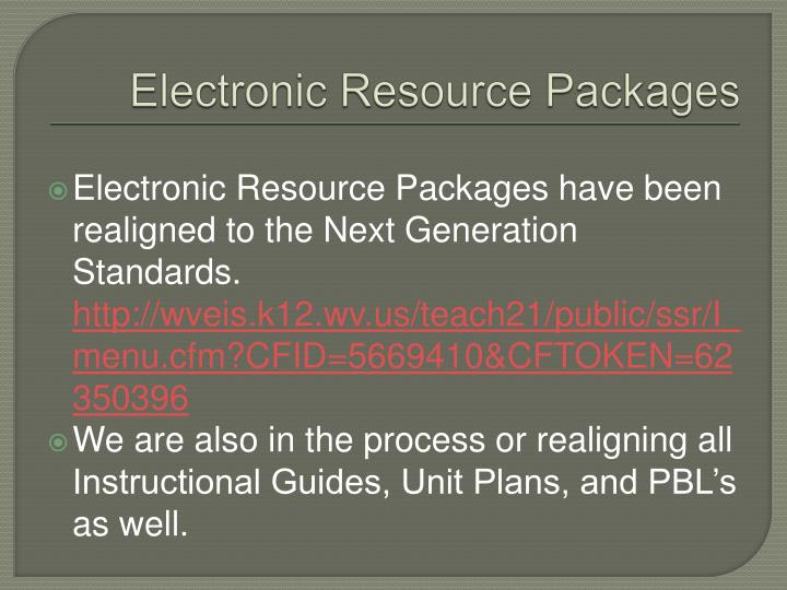 Electronic Resource Packages