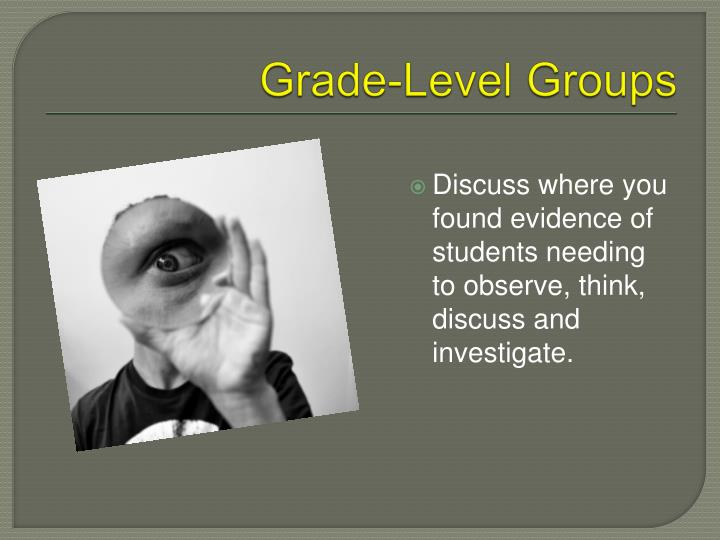 Grade-Level Groups