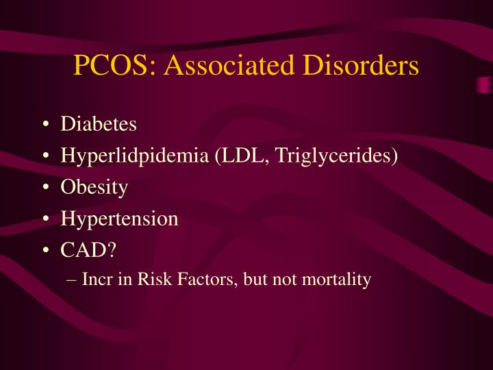 PCOS: Associated Disorders