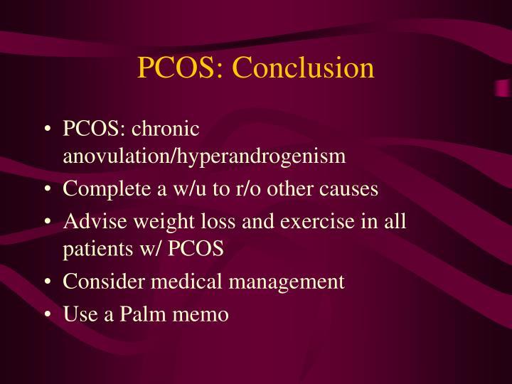 PCOS: Conclusion