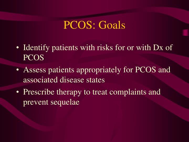 PCOS: Goals