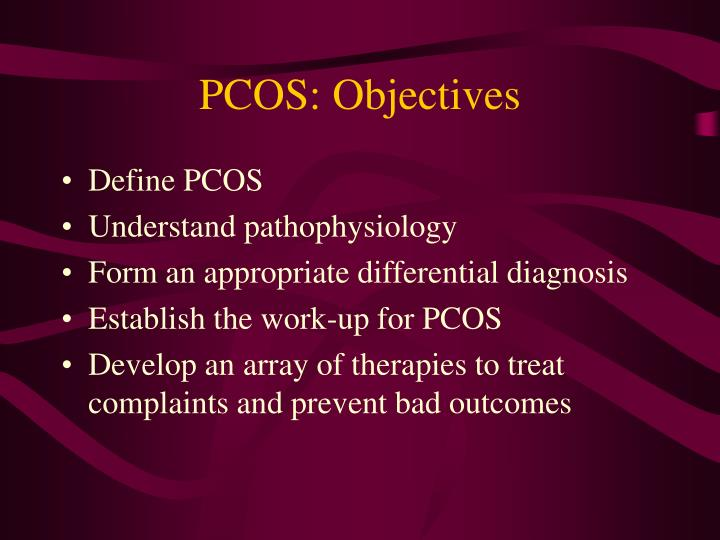 PCOS: Objectives