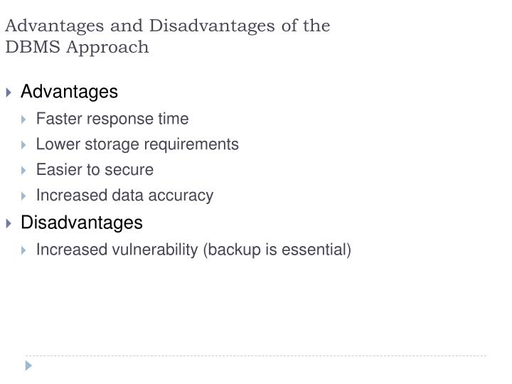 Advantages and Disadvantages of the