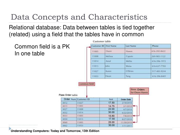 Data Concepts and Characteristics