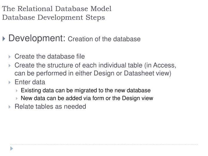The Relational Database Model