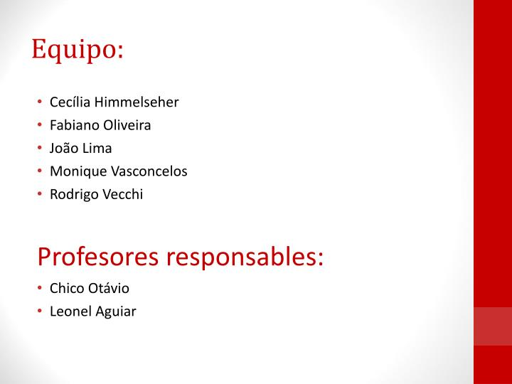 Equipo: