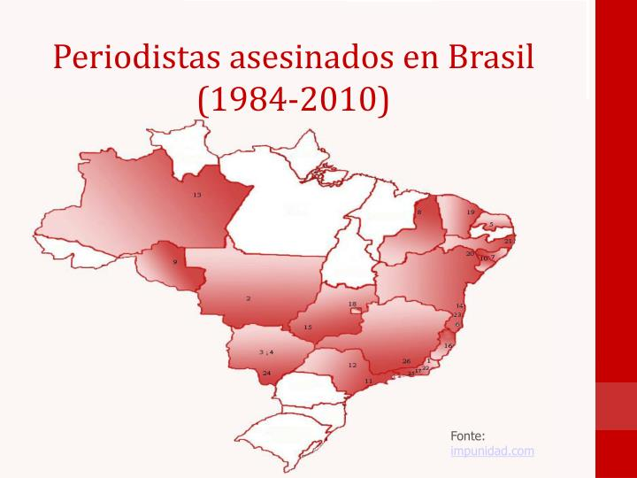 Periodistas asesinados en Brasil