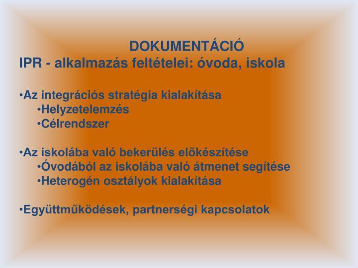 DOKUMENTÁCIÓ