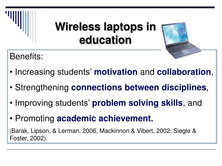 Wireless laptops in education