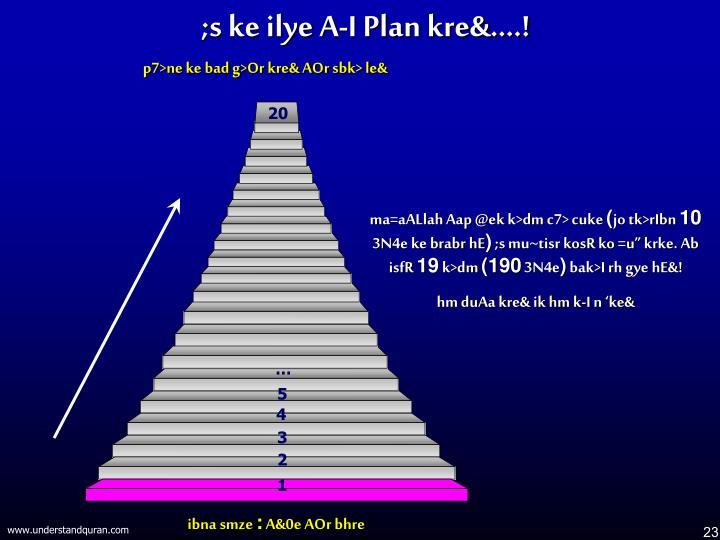 ;s ke ilye A-I Plan kre&....!