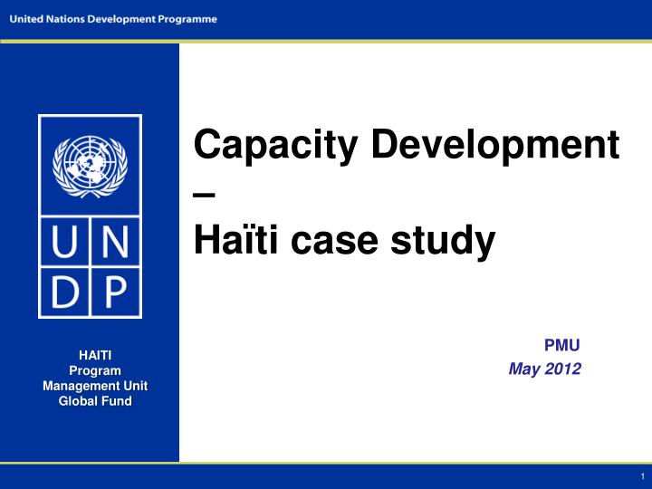 Capacity development ha ti case study