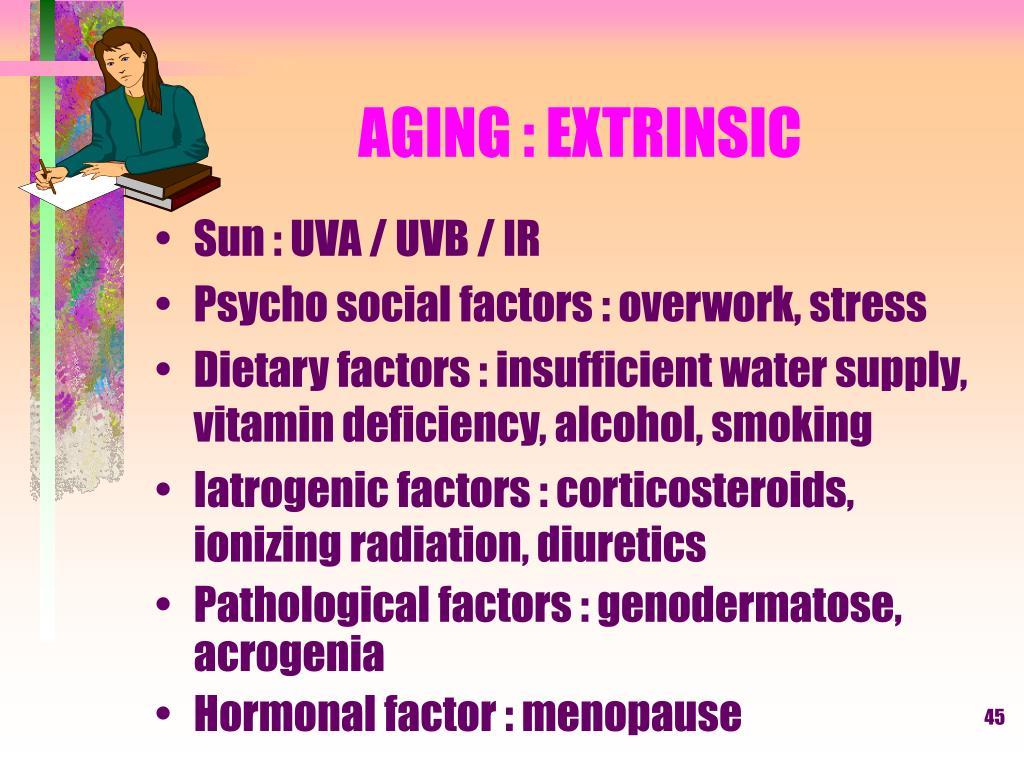 AGING : EXTRINSIC