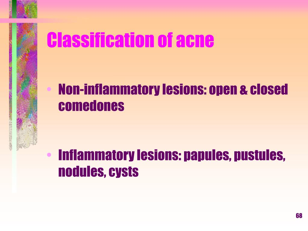 Classification of acne