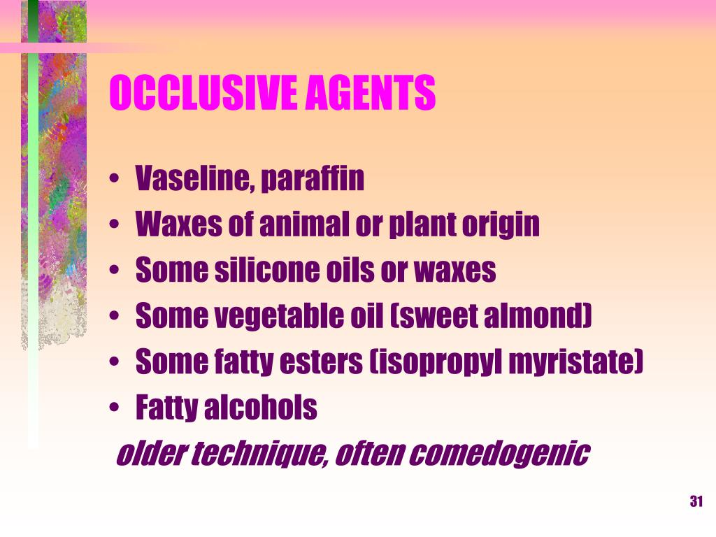 OCCLUSIVE AGENTS