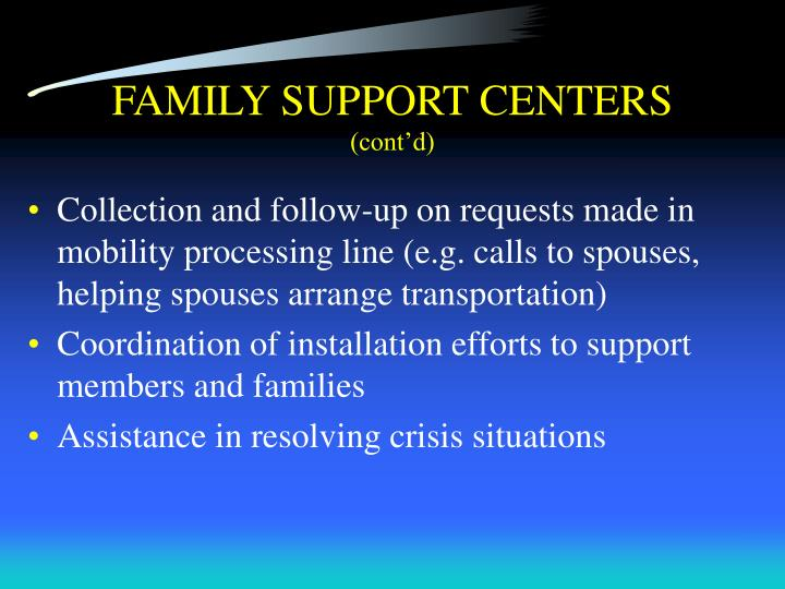 FAMILY SUPPORT CENTERS