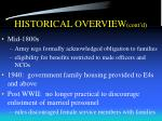 historical overview cont d