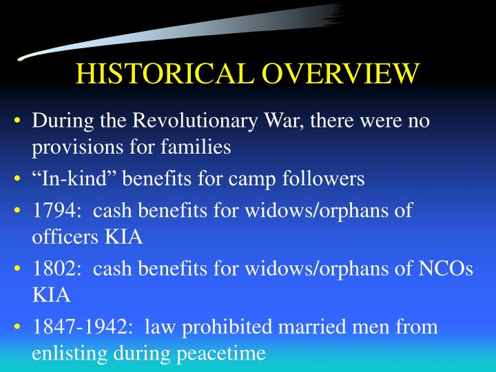 HISTORICAL OVERVIEW