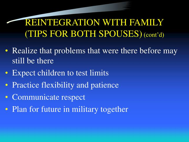 REINTEGRATION WITH FAMILY