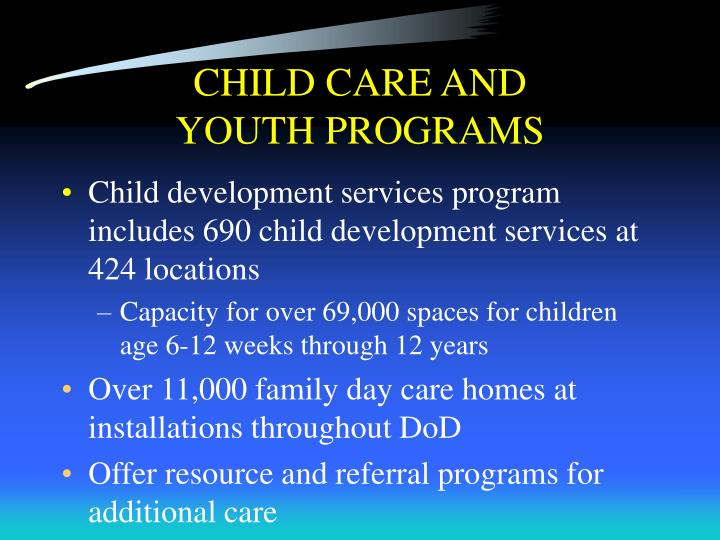 CHILD CARE AND