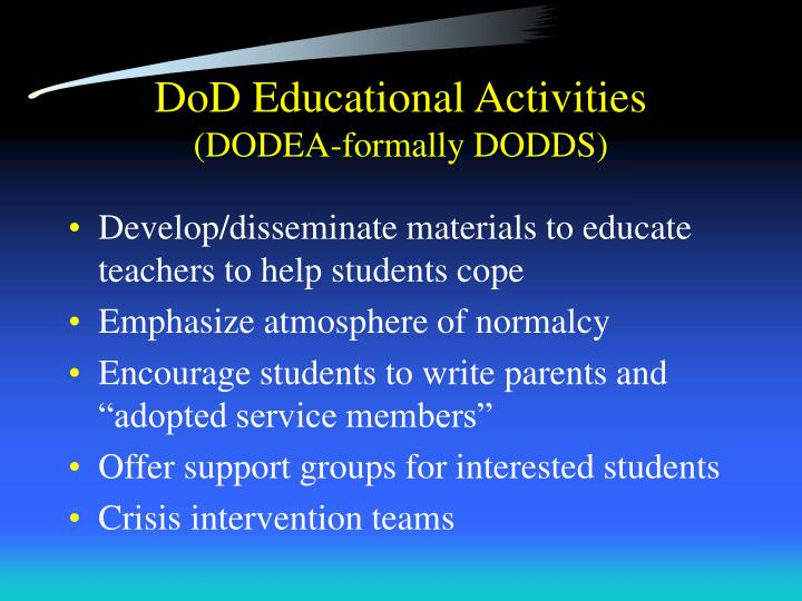 DoD Educational Activities