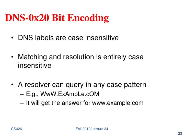 DNS-0x20 Bit Encoding