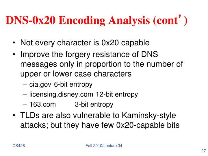 DNS-0x20 Encoding Analysis (cont