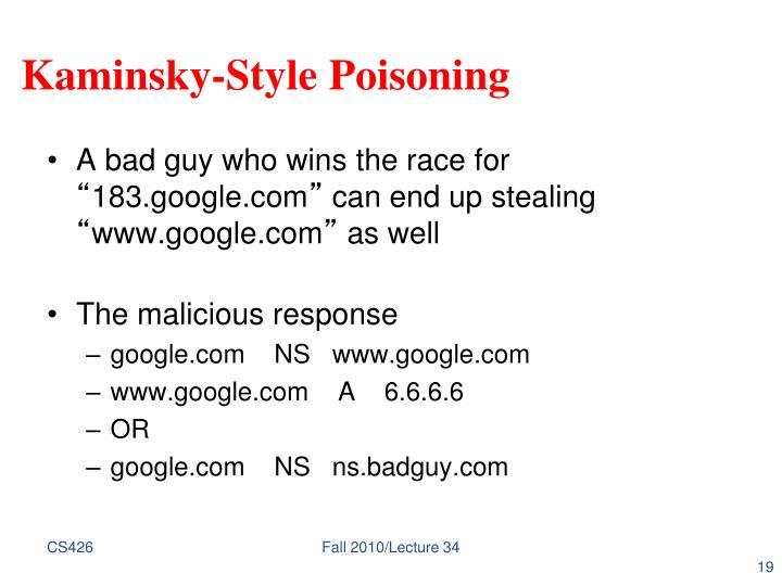 Kaminsky-Style Poisoning