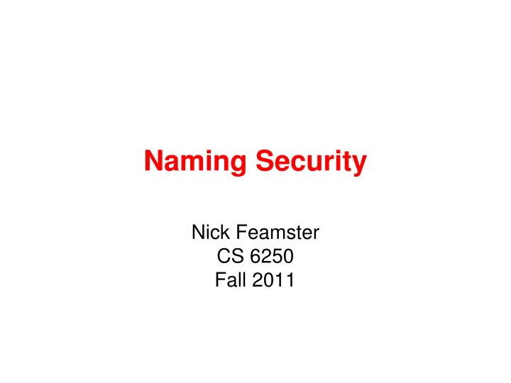 naming security