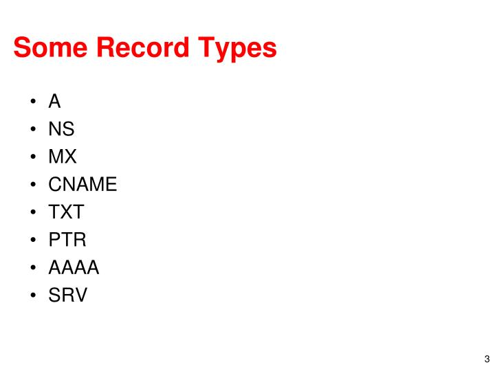 Some Record Types