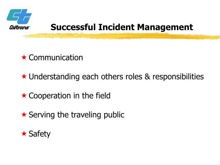 Successful Incident Management