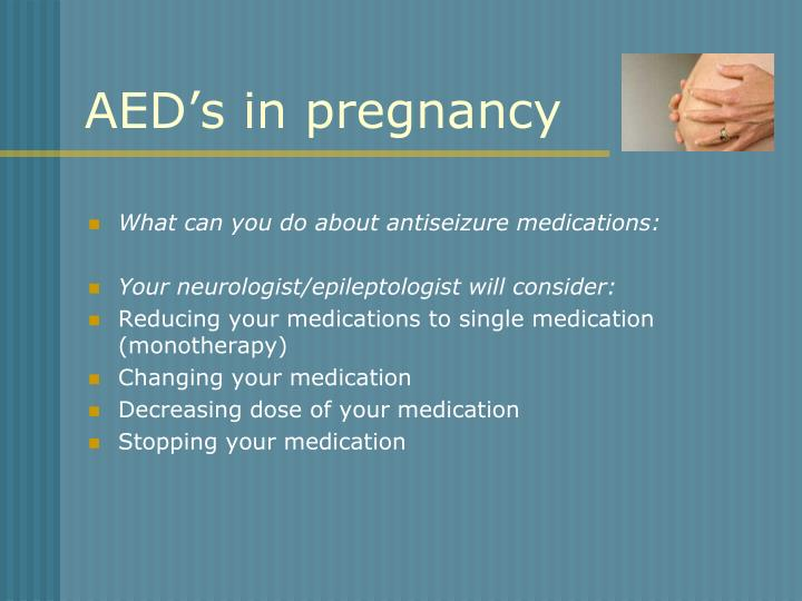 AED's in pregnancy