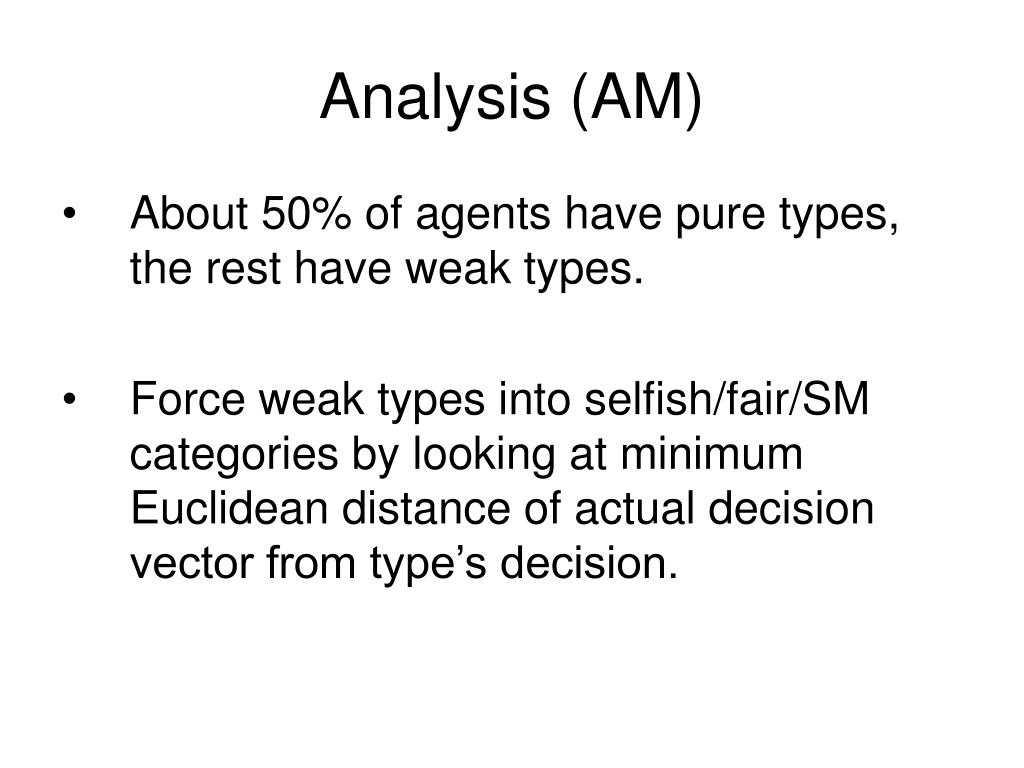 Analysis (AM)