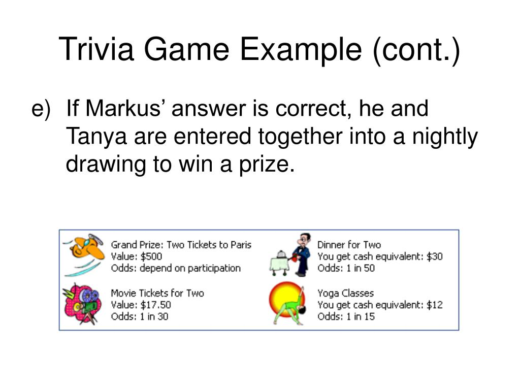 Trivia Game Example (cont.)