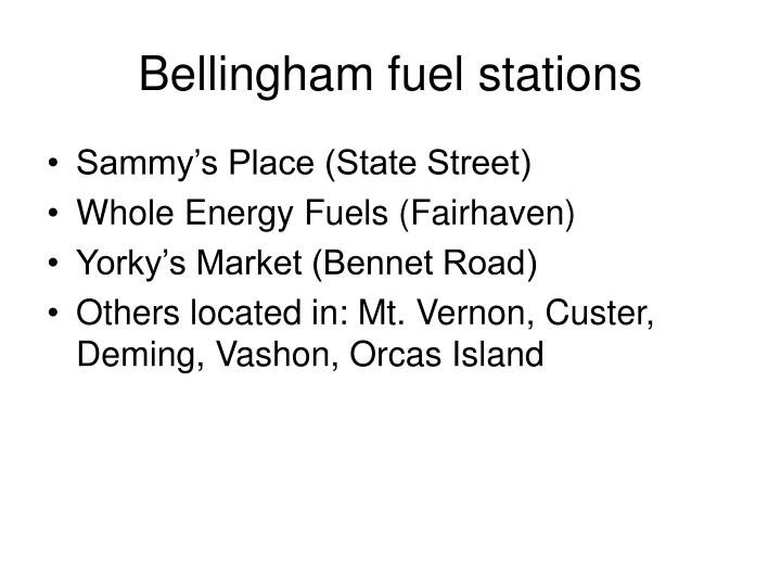 Bellingham fuel stations