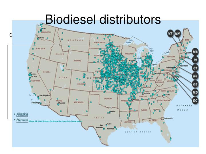 Biodiesel distributors