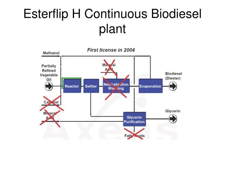 Esterflip H Continuous Biodiesel plant