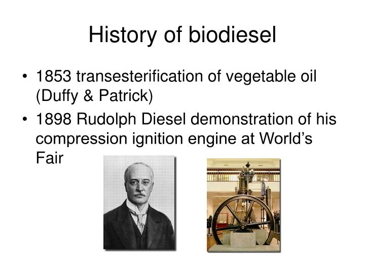 History of biodiesel