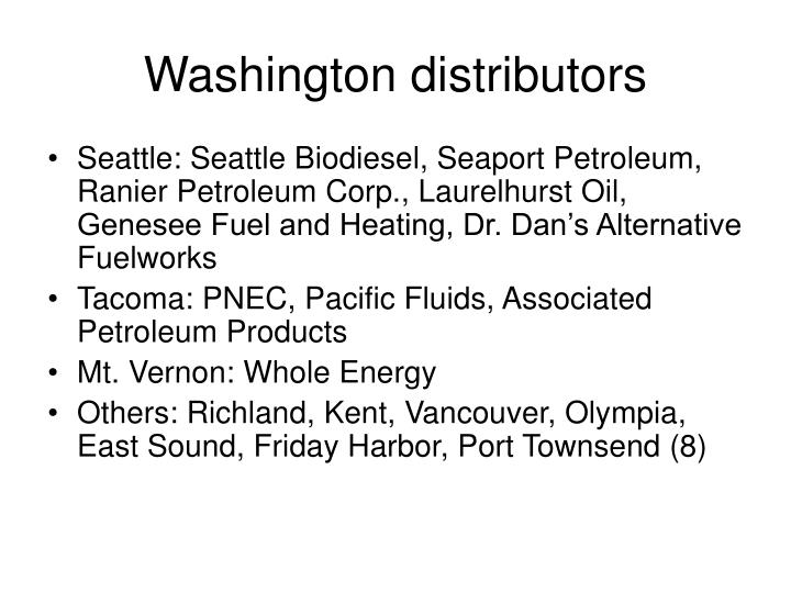 Washington distributors
