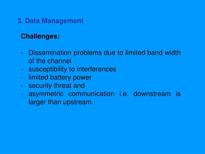 3. Data Management