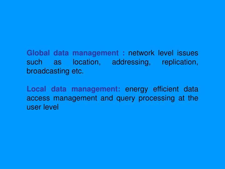 Global data management :