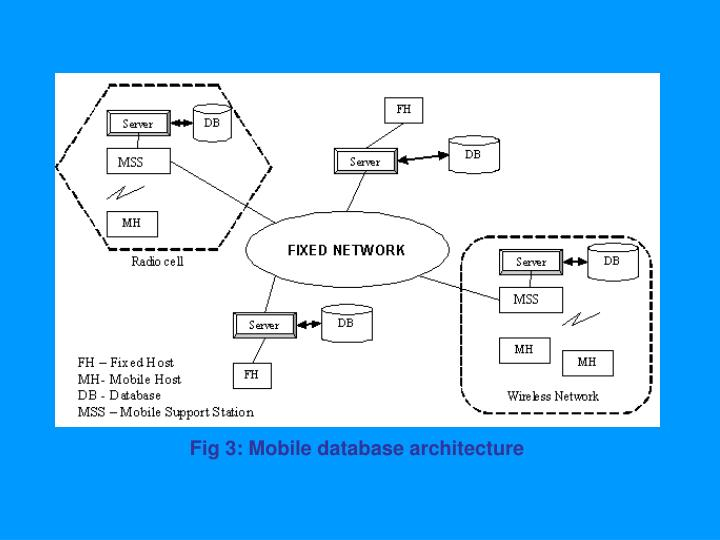 Fig 3: Mobile database architecture