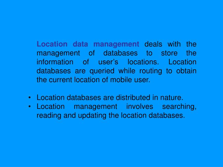 Location data management