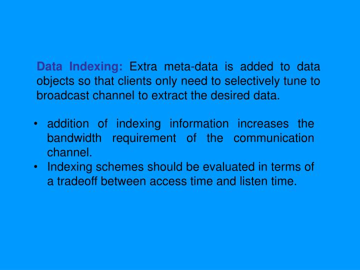 Data Indexing: